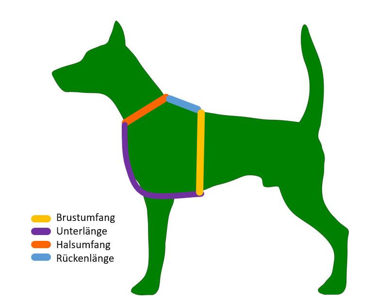Hundegeschirr Maße