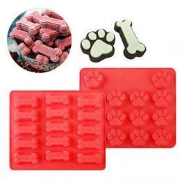 Silikonformen Hundeleckerlie Eis oder Kuchenform