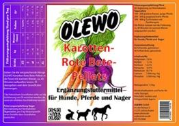 Olewo Karotten-Rote Bete-Pellets 4,0kg