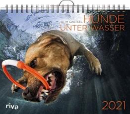 Hunde unter Wasser 2021: Wandkalender