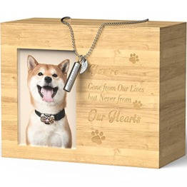 Urne Hund Holz